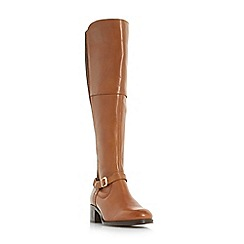 Roberto Vianni - Tan 'Tierny' buckle strap over the knee boots