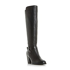 Roberto Vianni - Black 'Tarrant' buckle strap knee high boots