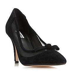 Dune - Black 'Blume' mesh panel point toe court shoes