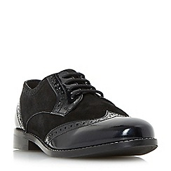 Dune - Black 'Foxxy' mix material lace up brogues
