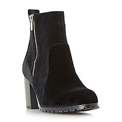 Head Over Heels by Dune - Black 'Pippaa' side zip heeled ankle boots