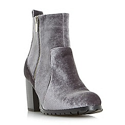 Head Over Heels by Dune - Grey 'Pippaa' side zip heeled ankle boots