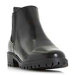 Head Over Heels by Dune - Black 'Portiaa' cleated sole chelsea ankle boots