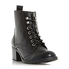 Head Over Heels by Dune - Black 'Pandoraa' lace up brogue boots