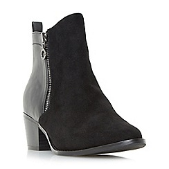 Head Over Heels by Dune - Black 'Pilar' point toe size zip ankle boots