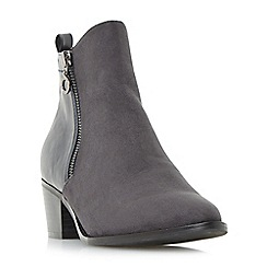 Head Over Heels by Dune - Grey 'Pilar' point toe size zip ankle boots