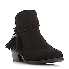 Head Over Heels by Dune - Black 'Petraa' tassel ankle boots