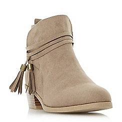 Head Over Heels by Dune - Taupe 'Petraa' tassel ankle boots