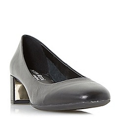 Roberto Vianni - Black 'Aldridge' comfort block heel court shoes