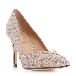 Roland Cartier - Rose 'Blanche' diamante and mesh detail court shoes
