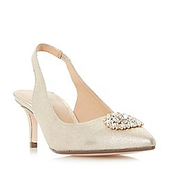 Roland Cartier - Gold 'Dolcie' embellished slingback court shoes