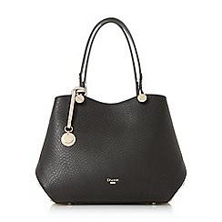 Dune - Black 'Dimogen' large double compartment shoulder bag