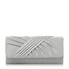 Roland Cartier - Silver 'Bailee' ruched flap over clutch bag