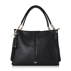 Dune - Black 'Disobelle' large slouch shoulder bag