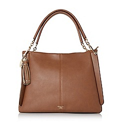 Dune - Tan 'Disobelle' large slouch shoulder bag