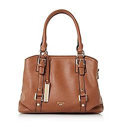 Dune - Tan 'Dannah' large buckle front handbag
