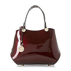 Dune - Dark red 'Dinidimogen' mini double compartment handbag