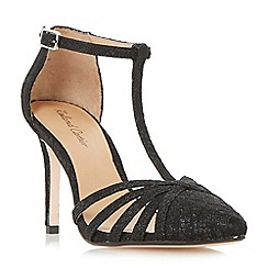 Roland Cartier - Black 'Dazzled' strappy t-bar court shoes