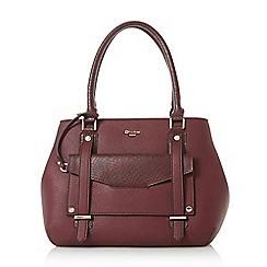 Dune - Dark red 'Dylier' purse charm insert top handle bag