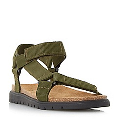 Dune - Khaki 'Iggy' rip tape adventure sandals