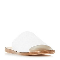 Dune - White 'Leny' flat mule sandals