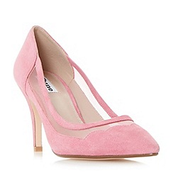 Dune - Pink 'Bunnie' scallop and mesh detail pointed toe court shoes