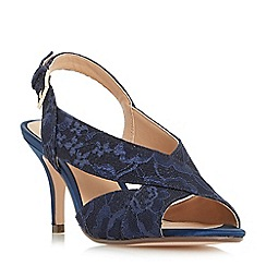 Roland Cartier - Navy 'Melanie' cross strap slingback sandals