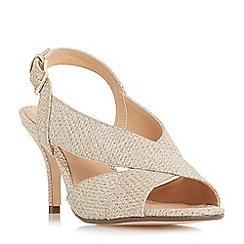Roland Cartier - Gold 'Melanie' cross strap slingback sandals