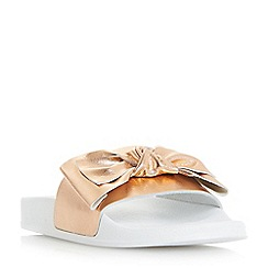 Dune - Rose 'Lovelle' bow trim pool slider sandals