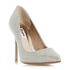 Dune - Gold 'Amalfie' point toe stiletto court shoes