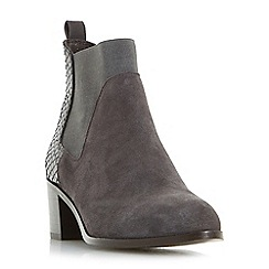 Dune - Grey 'Oprentice' mixed material  chelsea boots