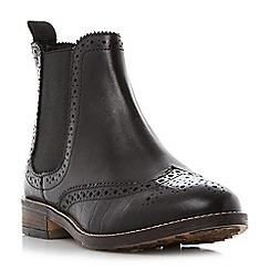 Dune - Black 'Quentons' brogue detail chelsea boots
