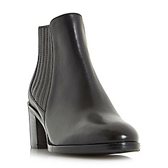 Dune - Black 'Peter' side elasticated block heel chelsea boots