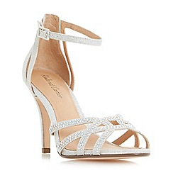 Roland Cartier - Silver 'Magma' diamante cut out heeled sandals