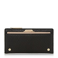 Dune - Black 'Kerrie' slim purse with removable card holder