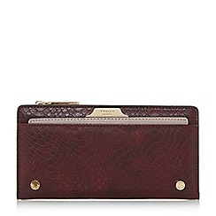 Dune - Dark red 'Kerrie' slim purse with removable card holder