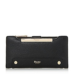 Dune - Black 'Kessica' slim line purse with removable card holder