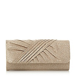 Roland Cartier - Gold 'Bailee' ruched flap over clutch bag