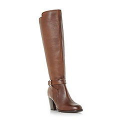 Roberto Vianni - Tan 'tarrant' buckle strap knee high boots