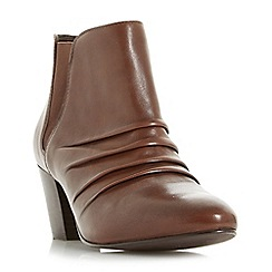 Roberto Vianni - Tan 'Obscure' ruched heeled ankle boots