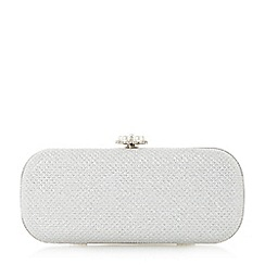 Roland Cartier - Silver 'Beanie' pearl clasp clutch bag