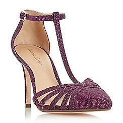 Roland Cartier - Purple 'Dazzled' strappy T-bar court shoes