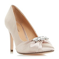 Roland Cartier - Natural 'Bryany' diamante trim satin court shoes