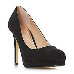 Head Over Heels by Dune - Black 'Allessia' platform stiletto court shoes