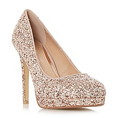 Head Over Heels by Dune - Rose 'Allessia' platform stiletto court shoes