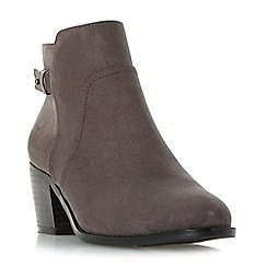 Head Over Heels by Dune - Grey 'Pascalle' side zip buckled ankle boots