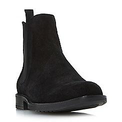 Dune - Black 'Mark' rubber sole chelsea boots