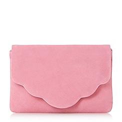 Dune - Pink 'Bcurve' scallop edge clutch bag