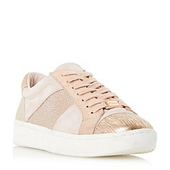 Dune - Pink 'Egypt' contrast panel lace up trainers