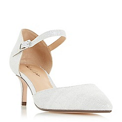 Roland Cartier - Silver 'Dainty' two part mid heel court shoes